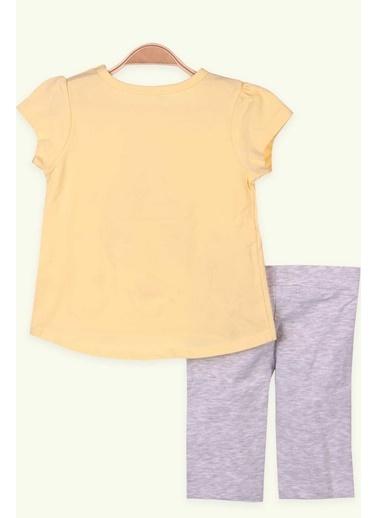 Breeze Kız Çocuk Kapri Taytlı Takım Baskılı Sarı (1.5 Yaş-5 Yaş) Sarı
